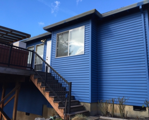 Blue House recently painted by Portland Painting Contractor Ultimate Oregon Painting